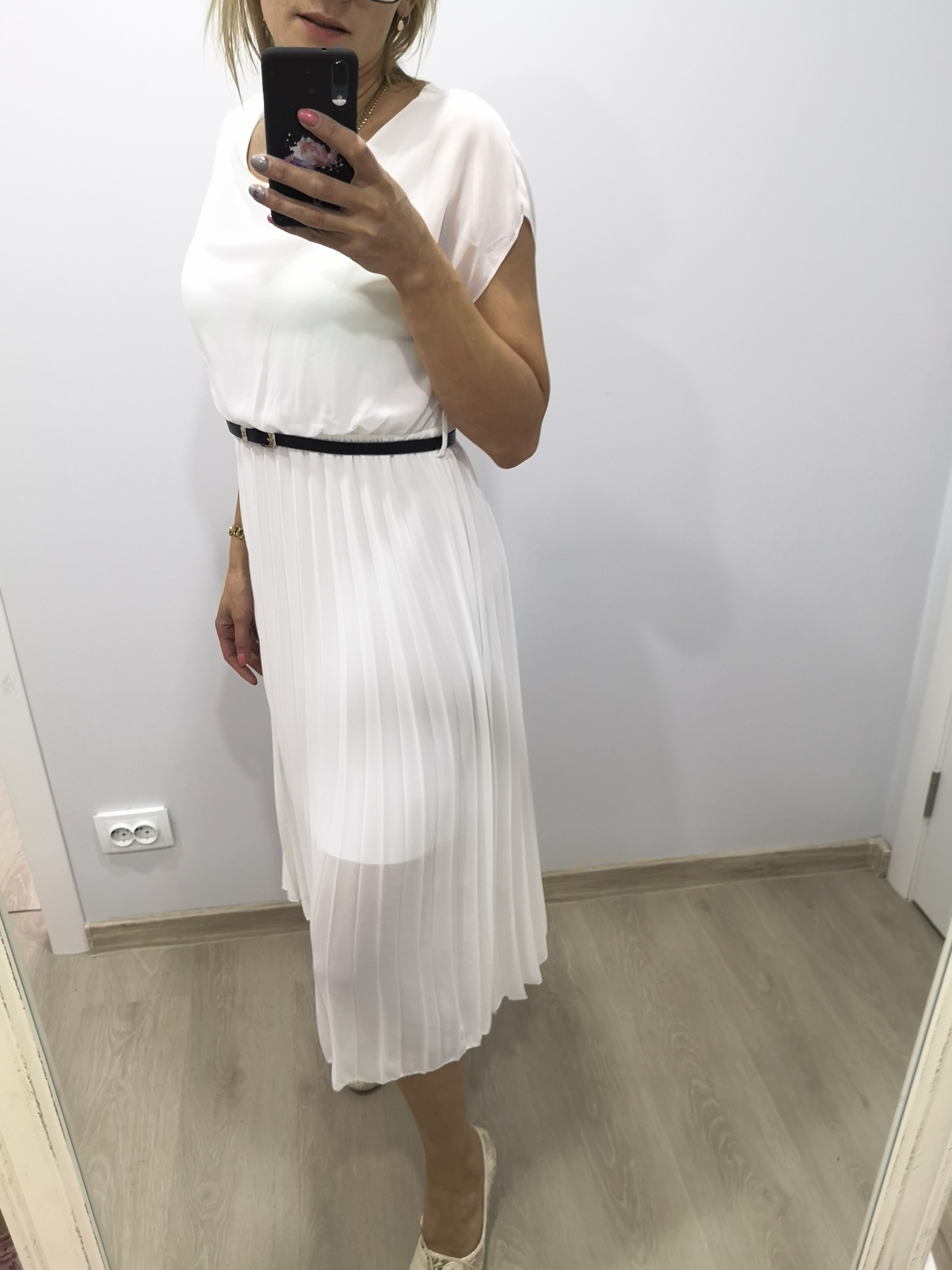 32eec197942 MIDI Valge kleit - Laiv Fashion
